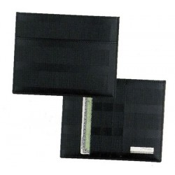 Black leather note-case,...