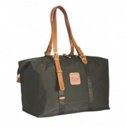 Borsa rigida in nylon nera con rifiniture in pelle