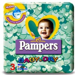 Pampers conf.midi 4-9 kgs.