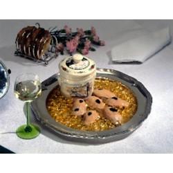 Fegato d'oca tartufato, 4-5 porzioni, terrina ermetica bassa N°10