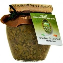 Bruschetta con olive e rosmarino