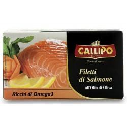 Filetti di salmone in olio di oliva