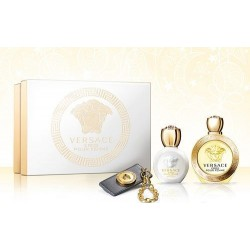 Versace Eros Xmas set, eau de toilette 100 ml + body lotion 100 ml + portachiavi