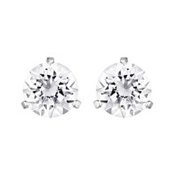 Solitaire pierced earrings...