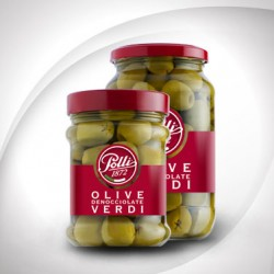 Stoneless green olives, Polli