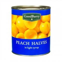 Pesche gialle a metà